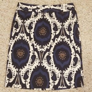J.Crew Size 6 Multi Print Pencil Skirt